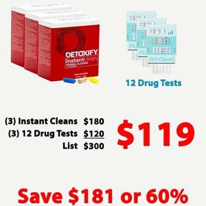 Detoxify Instant Clean 3 Pack