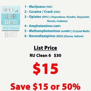 RU Clean 6 Panel Home Drug Test