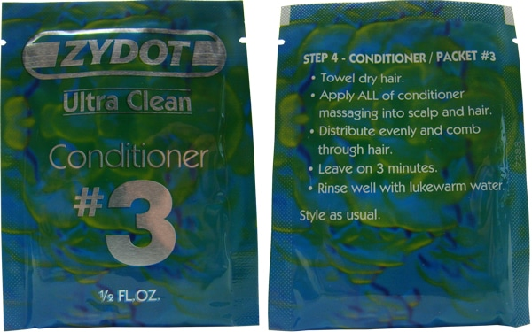Ultra Clean Shampoo Packet 3 Conditioner